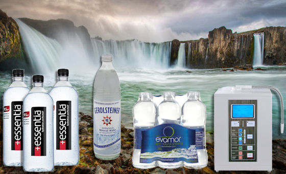 alkaline water assortment