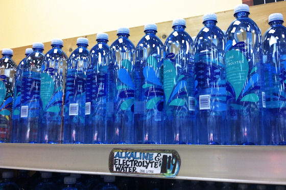 alkaline water on trader joes shelves