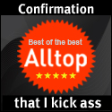 Alltop confirmation that I kick ass