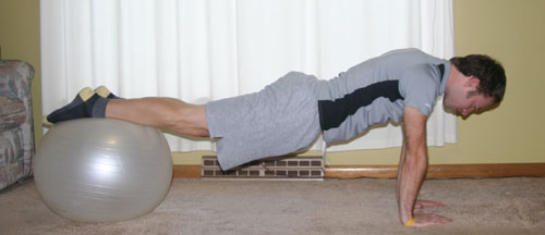 ball push-up version 1