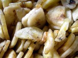pile of banana chips
