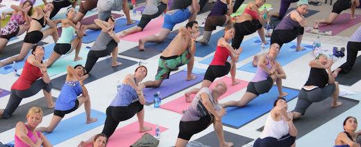 big yoga class