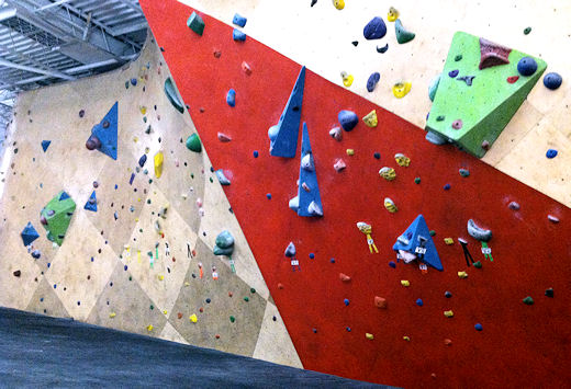 bkbs upper level bouldering wall