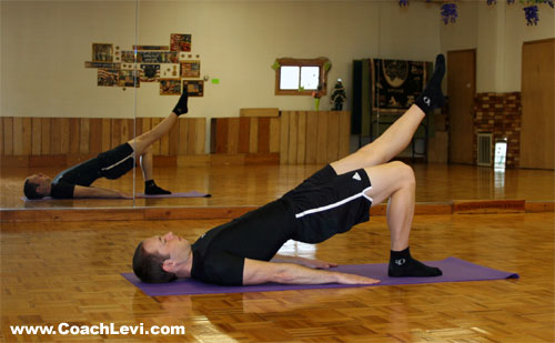 one leg shoulder bridge