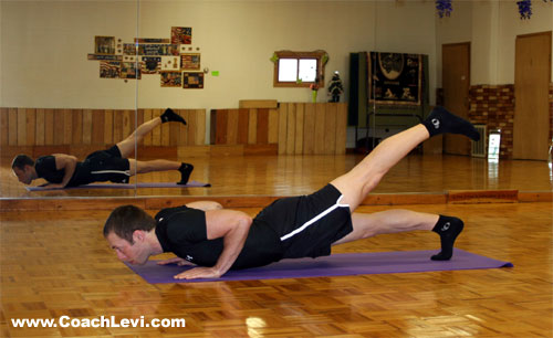 one leg push up