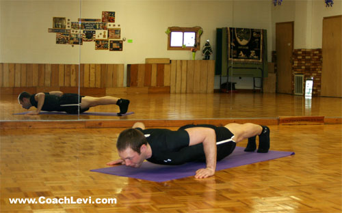 wide grip push up