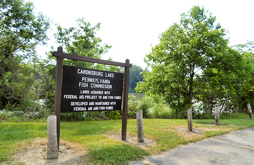 canonsburg lake sign