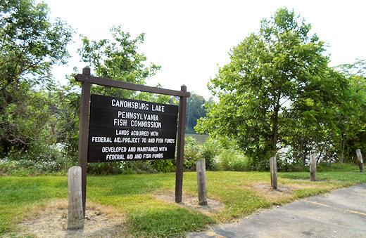 canonsburg lake sign
