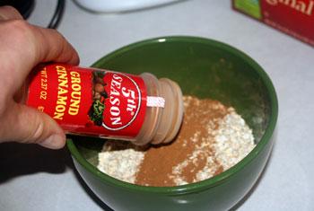 cinnamon on oats
