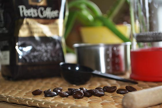 whole coffee beans and cold brew supplies