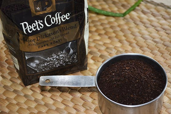 one cup coffee grounds