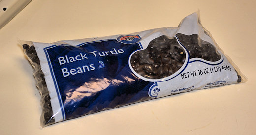 bag of black beans