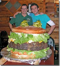 denny with burger and justin kredible