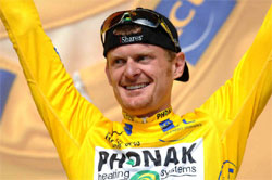 floyd landis in yellow jersey