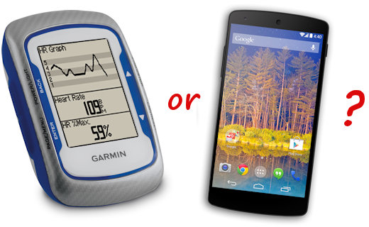 garmin edge vs smartphone