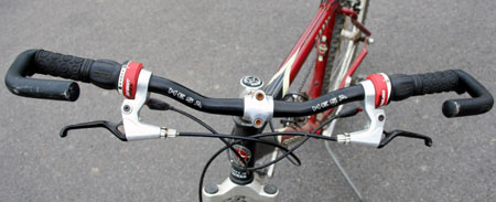 shifters on handlebar