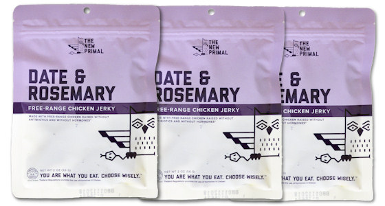 bags of the new primal chicken jerky