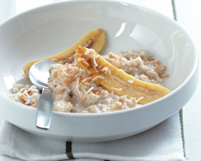 banana cream oatmeal from gourmet nutrition