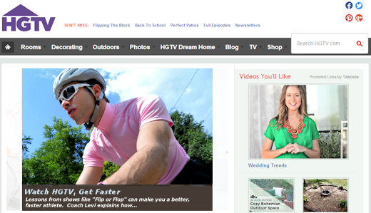 hgtv website cycling headline