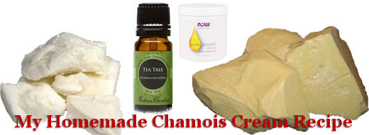 homemade chamois cream ingredients