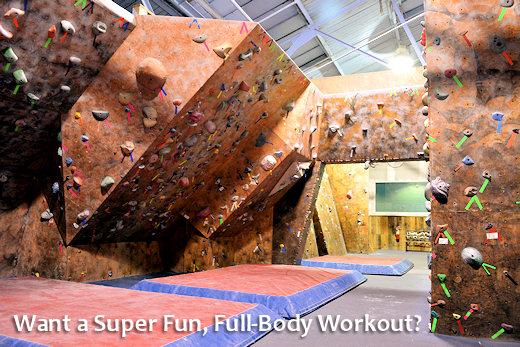 indoor rock climbing is fun