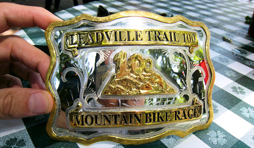 leadville 100 9 hour finisher belt buckle
