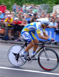 aerodynamic cyclist