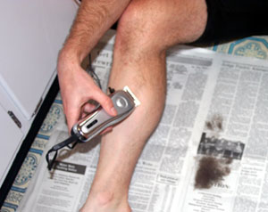 leg shaving for cyclists shaver