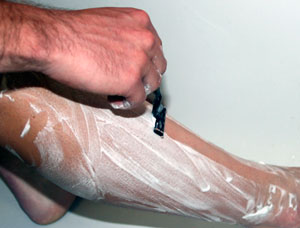 leg shaving for cyclists razor