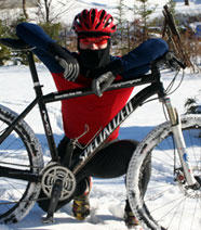 levi mountain biking snow
