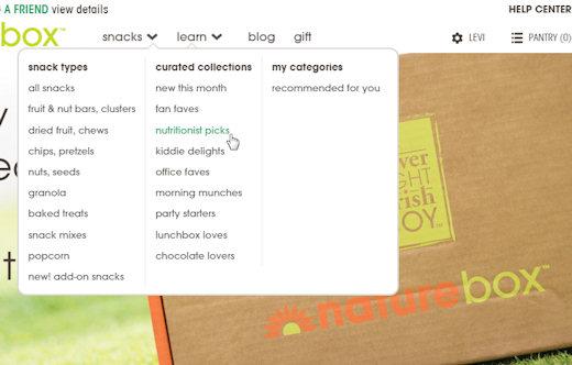 naturebox snack menu