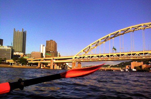 paddling river downtown pittsburgh