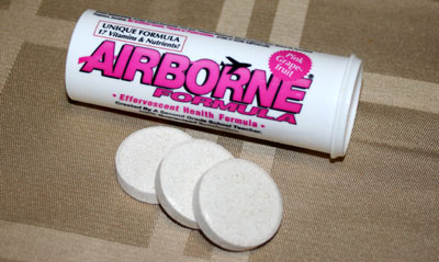 airborne tube and tablets