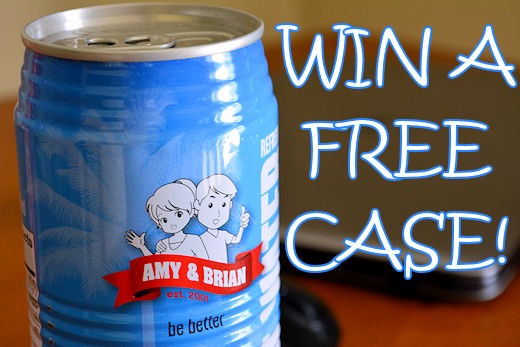 win free case of amy brian coconut water
