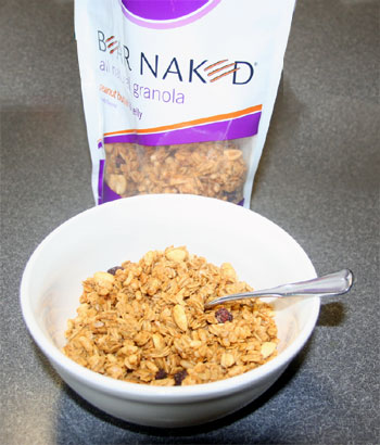 bear naked granola in bowl