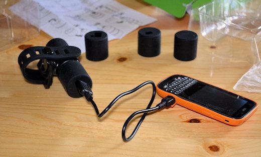 bike2power charging palm phone