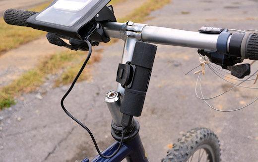 bike2power with iphone on handlebar