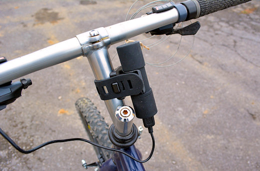 bike2power mounted on stem