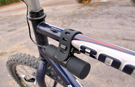 bike2power mounted on top tube