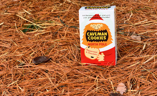 caveman cookies box