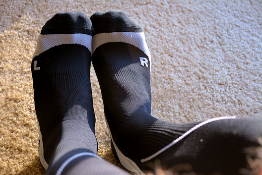 cep compression socks on my feet