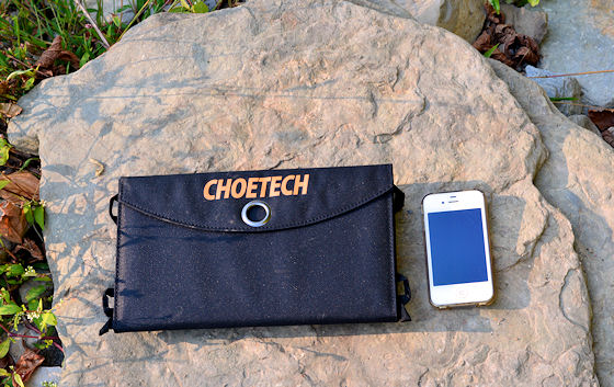 choe portable solar charger folded