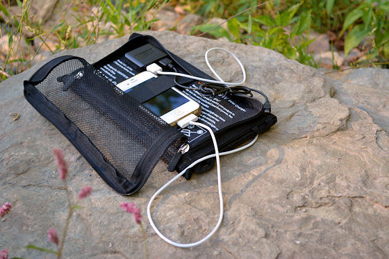 choe portable solar panel charging iPhone