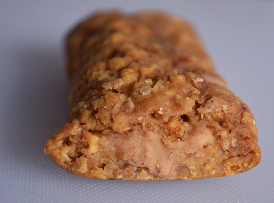 inside of a nut butter filled clif bar