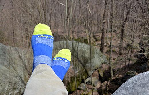 darn tough socks top of ledge