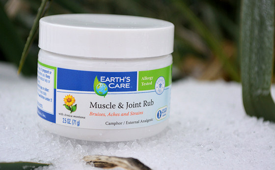 earths care muscle joint rub jar