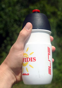 elite water bottle in hand