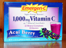 emergen-c acai berry box