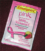 emergen-c pink lemonade packet