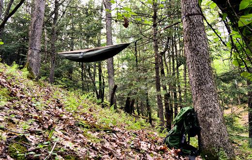 eno doublenest hammock on hill side